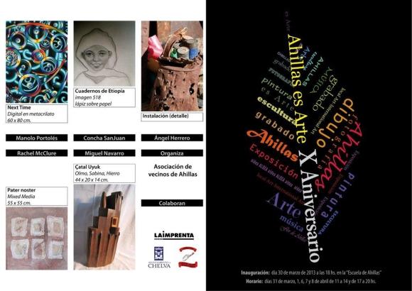WEB 20130330 Xª EXPO ARTE en AHILLAS, PAG 01 y 04